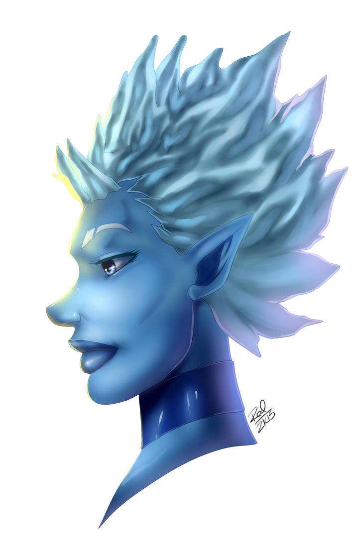 Ice Demoness redesign by Zelmarr