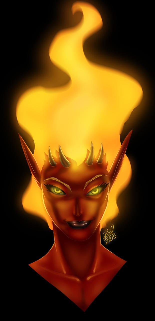 Fire Demoness Redesign by Zelmarr