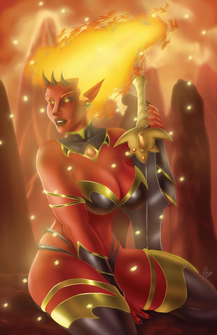 Fire Print by Zelmarr