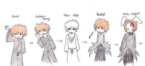 Stages of Ichigo chibish by pieizgud