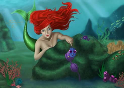Ariel y Dory  DISNEY