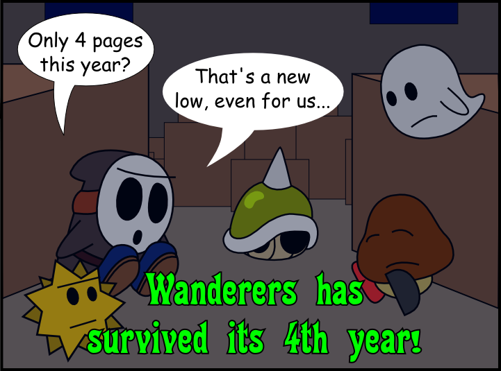 Wanderers in the Mushroom Kingdom is 4 Years Old! by ArtfulRoomsOfDeath