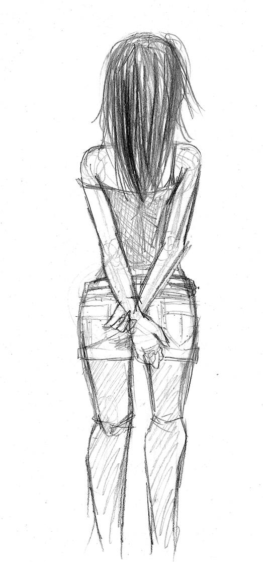 Girl Standing By DrawingPhoenix On DeviantArt