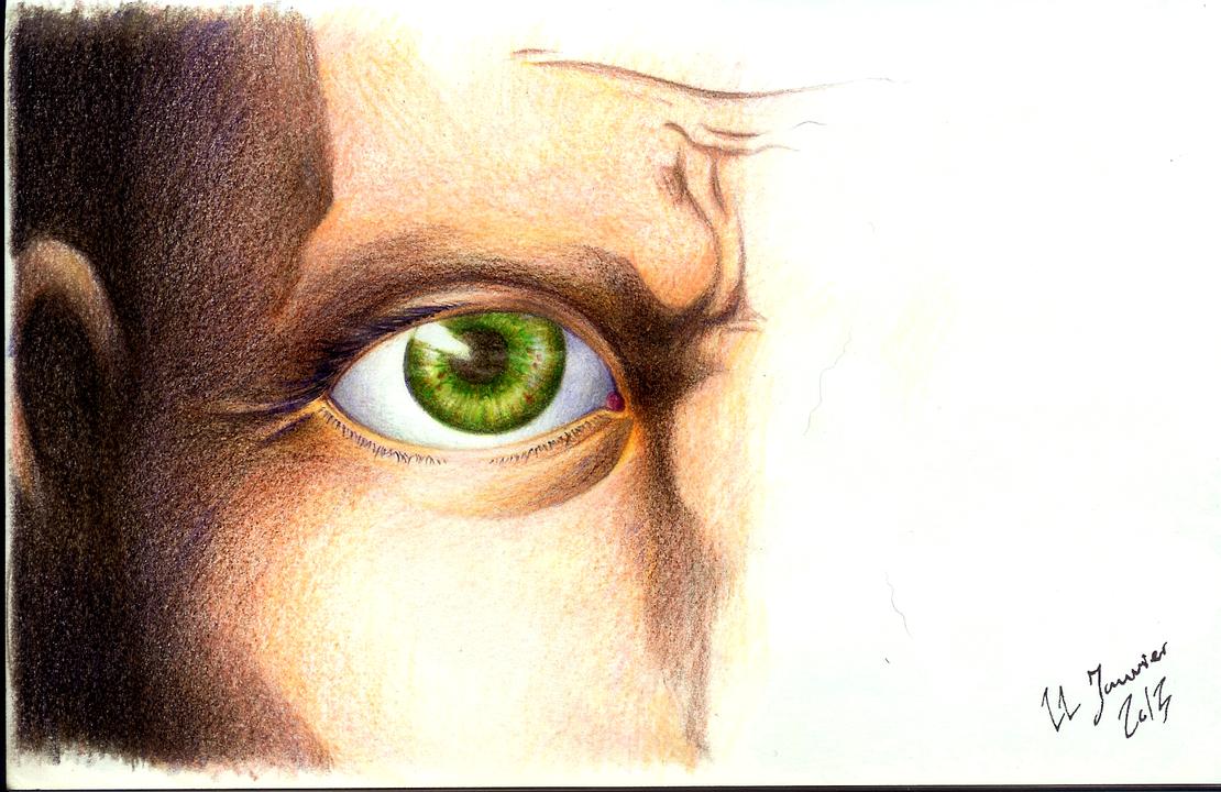 Green eye by Fuyutaihen