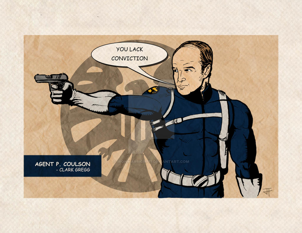 Agent Coulson as a classic S.H.I.E.L.D. Agent by IronWarrior777