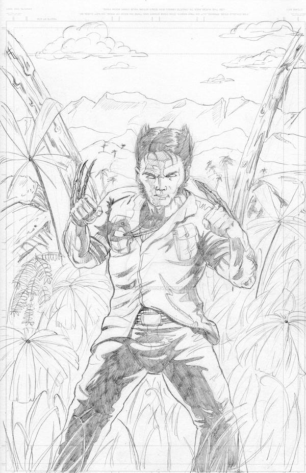 Wolverine in Vietnam: Pencils by IronWarrior777
