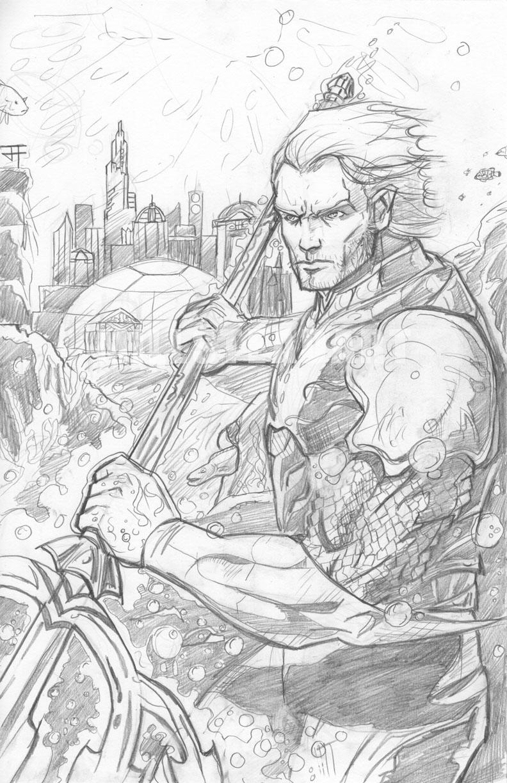 Aquaman: Pencils by IronWarrior777