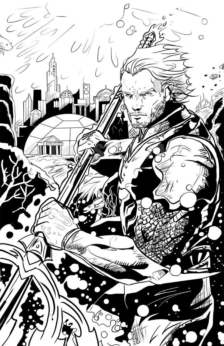 Aquaman: Inks by IronWarrior777