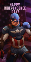 Captain America wishes you a Happy 4th!