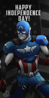 Captain America wishes you a Happy 4th! V2