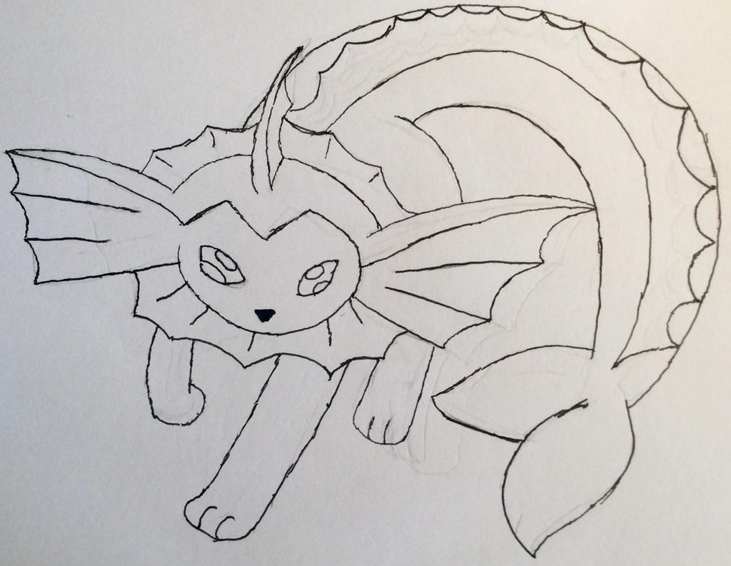 Vaporeon lineart by Car-lover33