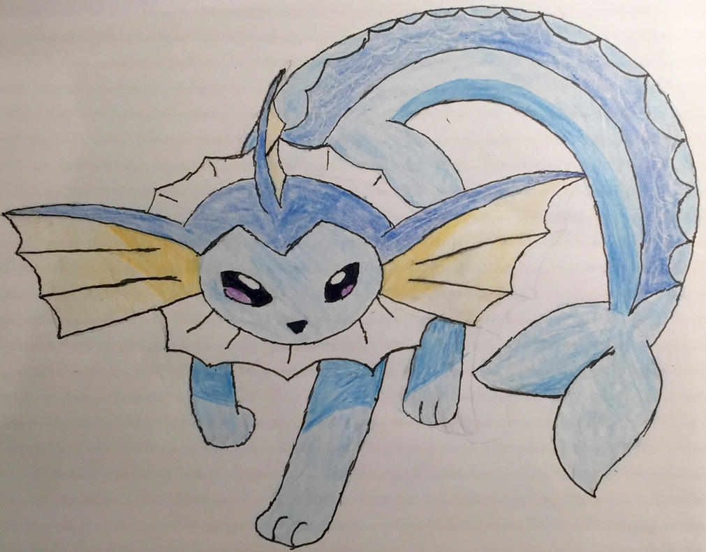 Vaporeon coloured by Car-lover33