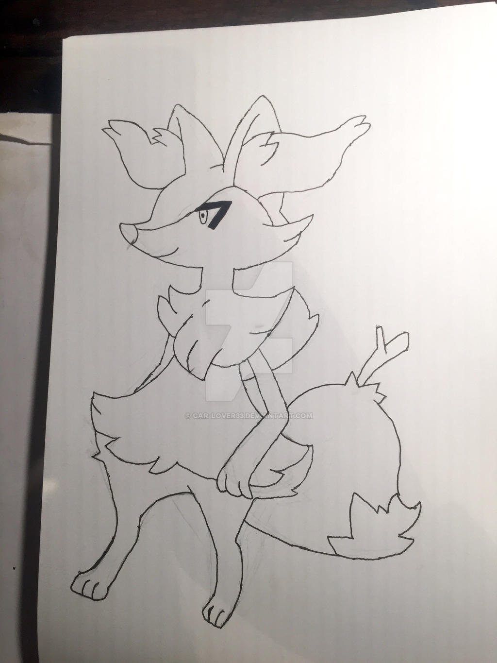Braixen lineart by Car-lover33