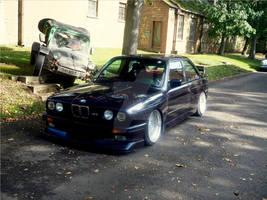BMW E30 M3 on air ride