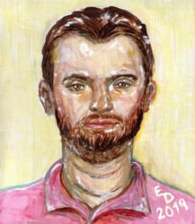 Man In A Pink Shirt