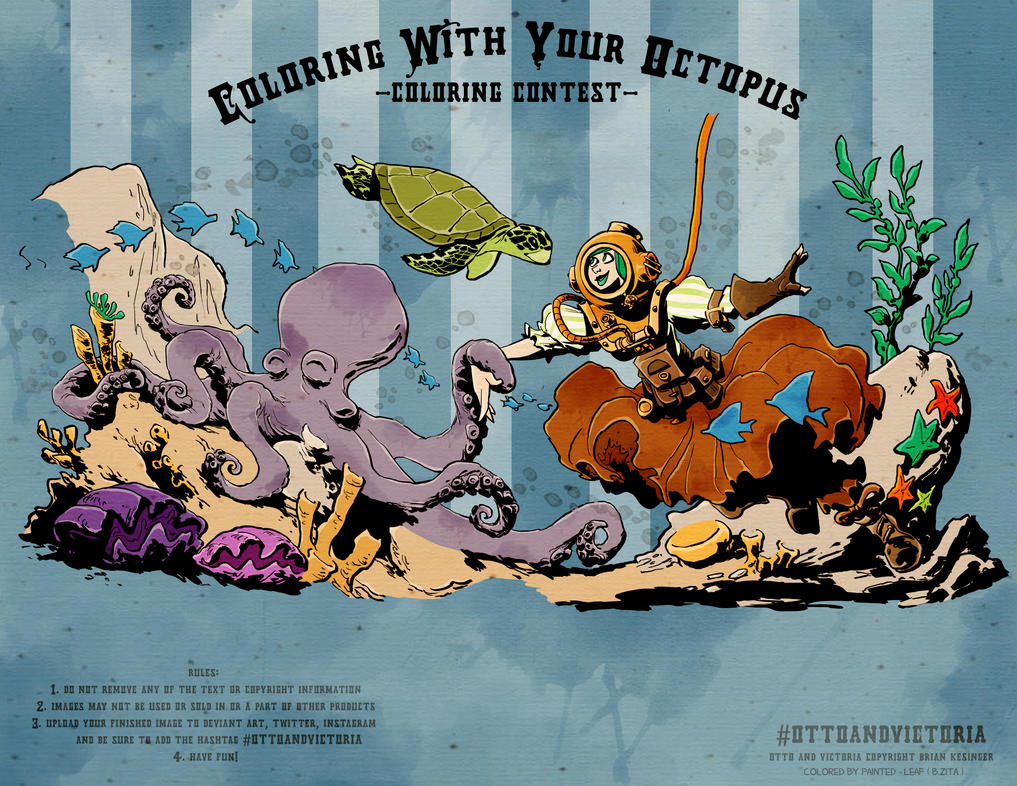 coloring with your octopus contest entry by moondustowl on