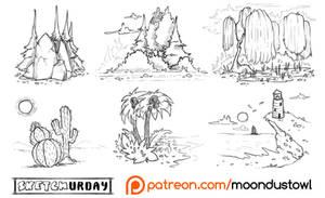 Sketchurday #33 :: Landscape Studies