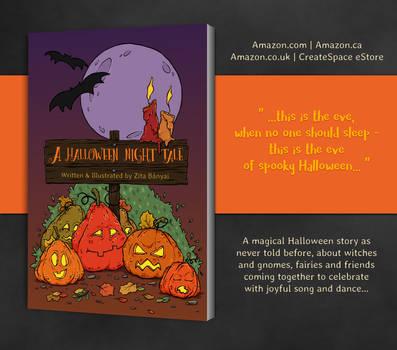 A Halloween Night Tale - Children's Book by moondustowl