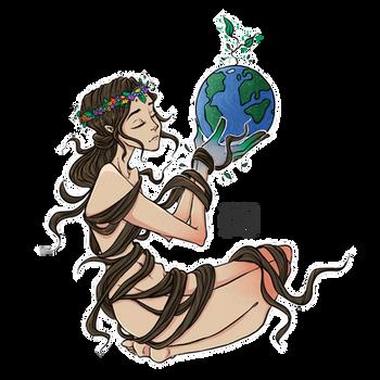 Gaia by moondustowl