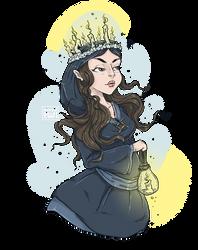 Imbolc - Brighid Celtic Goddess by moondustowl