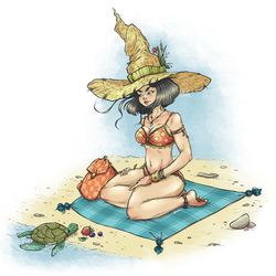 Witch on the Beach