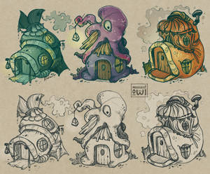 Fishmen House Concept Sketches