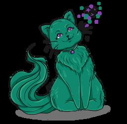 Cat With Chrissabug