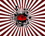 Grunge Vector Hearts Wallpaper