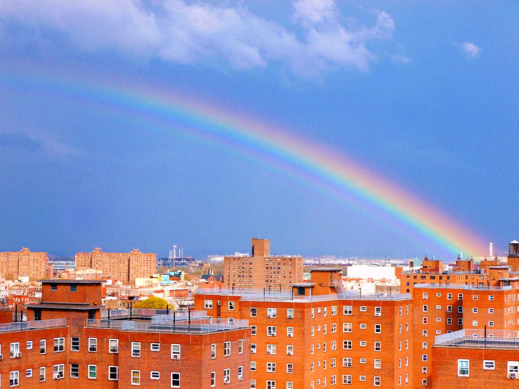 Rainbow over E. Harlem 002 by Ladyhawke81