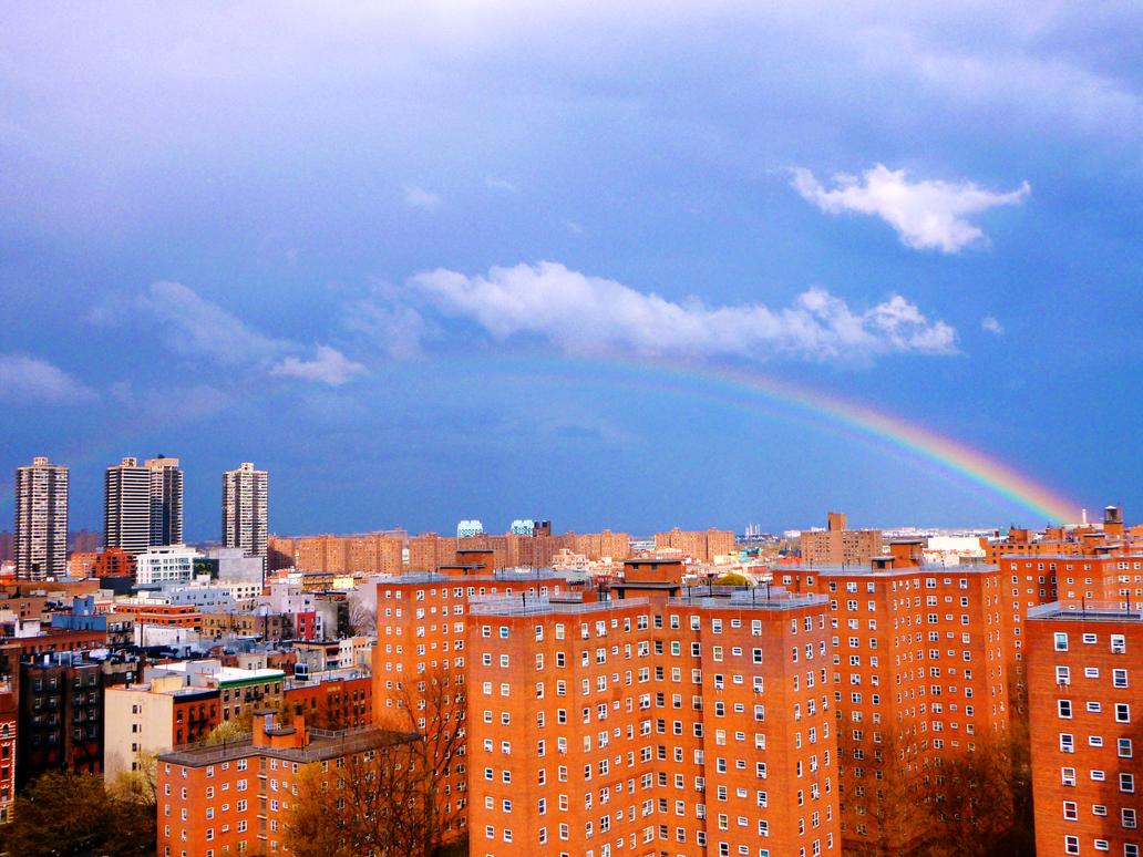 Rainbow over E. Harlem 003 by Ladyhawke81