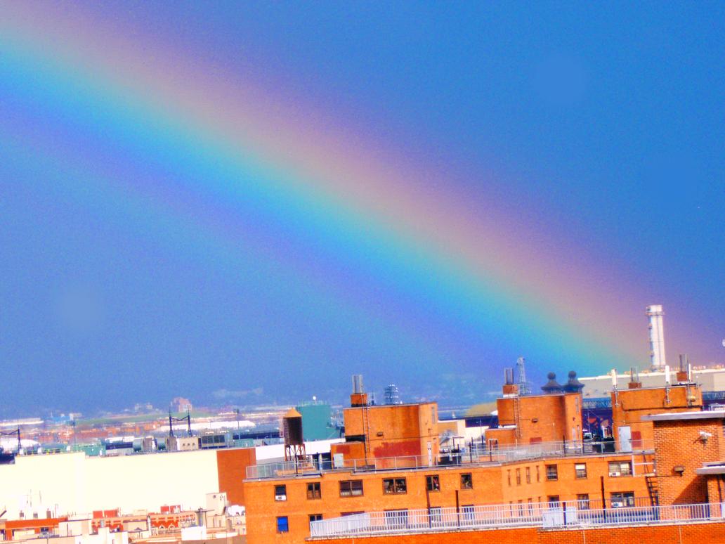 Rainbow over E. Harlem 004 by Ladyhawke81