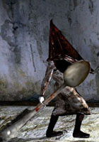 Pyramid Head with a Spoon by Jhoxesp