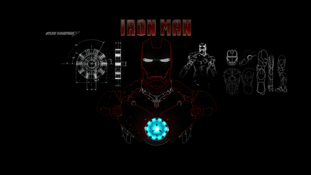 Iron Man Draw 1920x1080 v1