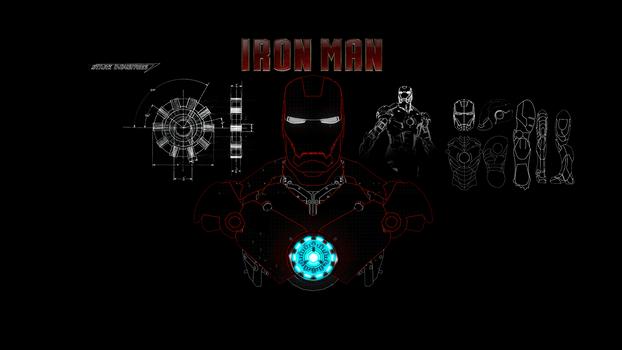 Iron Man Draw 1920x1080 v1