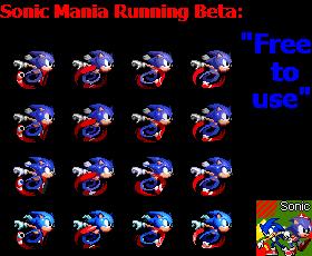 Sonic Mania Running Beta Sprites by facundogomez