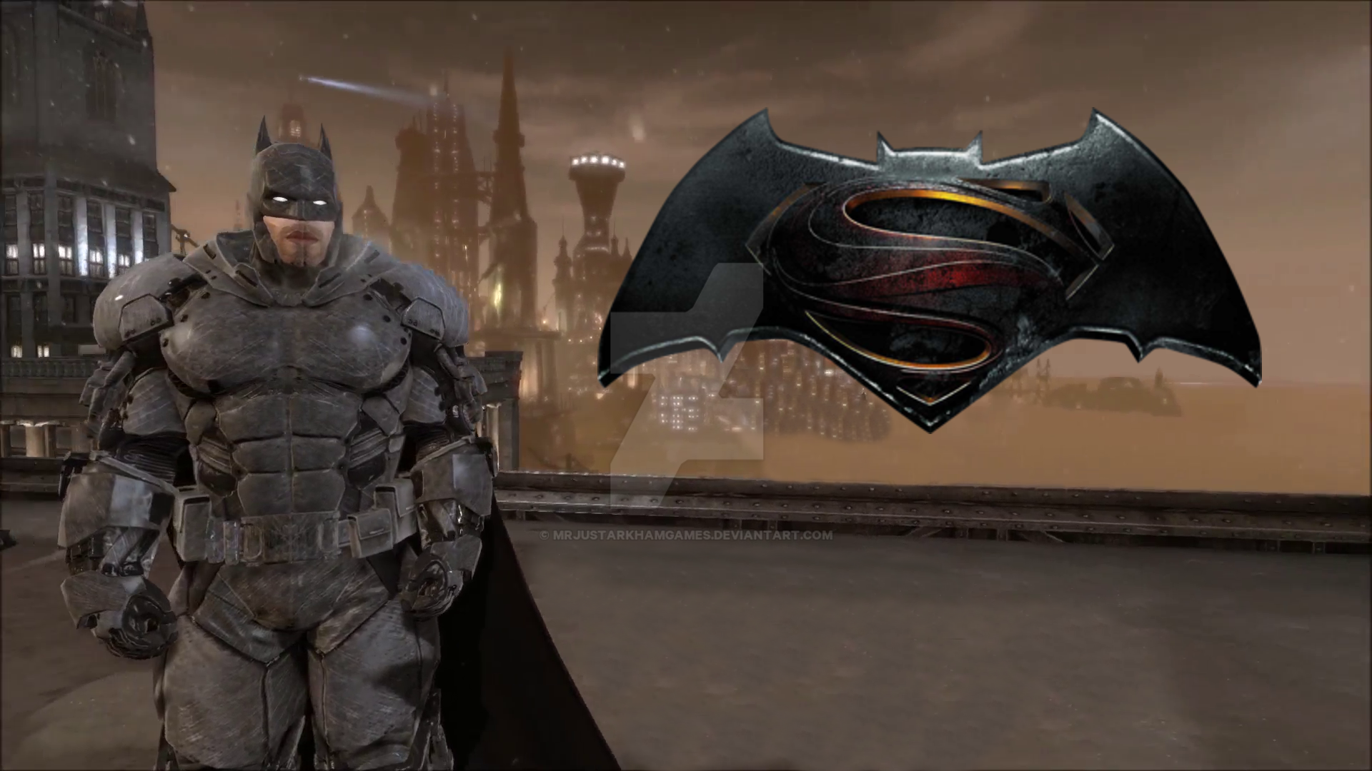 MrJustArkhamGames Batman Vs Superman Armoured Suit Final By