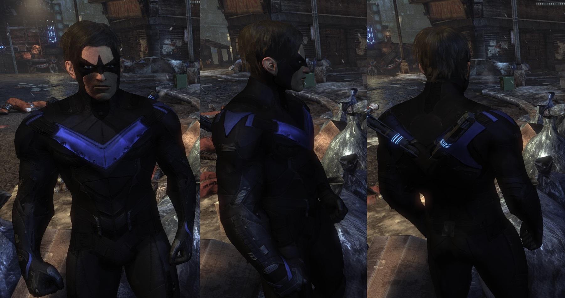 arkham knight nightwing final by mrjustarkhamgames on