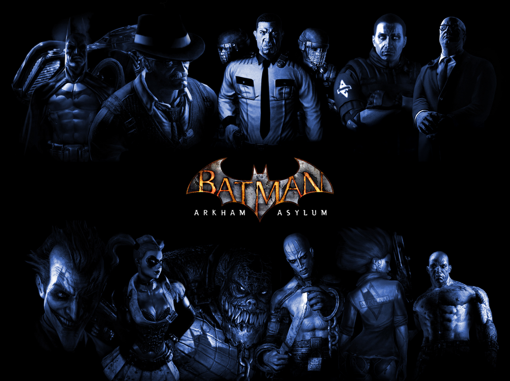 them vs. us (arkham asylum wallpaper)mrjustarkhamgames on deviantart