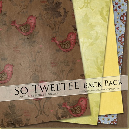 So Tweetee Scrapbook Papers by duggar