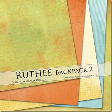 Ruthee Scrapbook papers by duggar