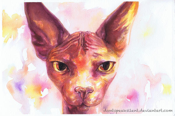 Watercolor Cat by DontSpeakSilent