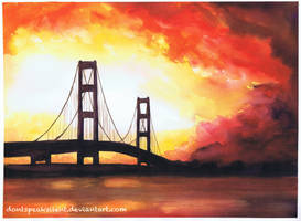 Watercolor Bridge by artbyamyk