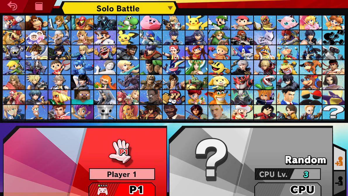 My smash roster leaked - Copy