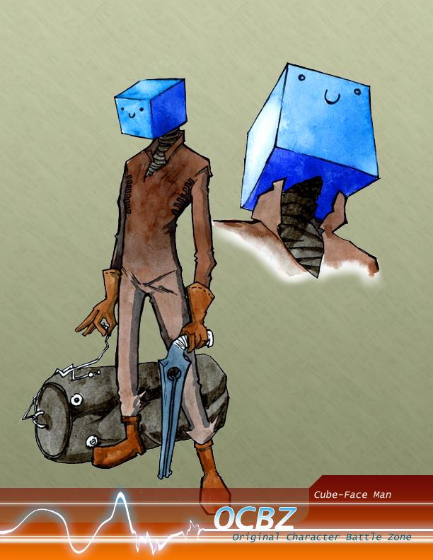 Cube-Face Man