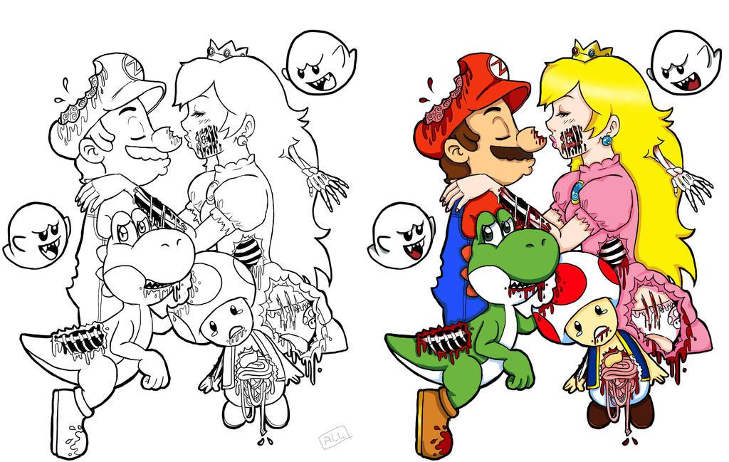 Mario Zombie Tattoo by TentacleSnail
