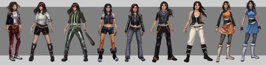 Double Edged 3007 Mirta Character Sketches