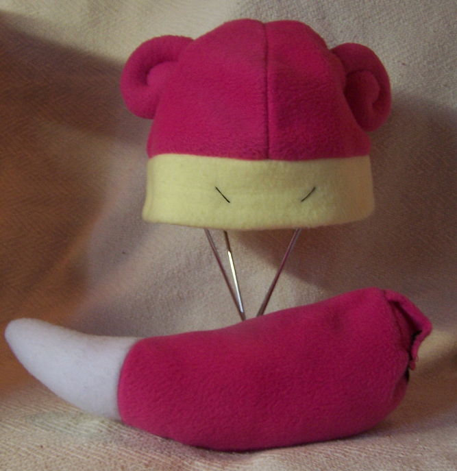 Slowpoke hat and tail. by JadeStorm