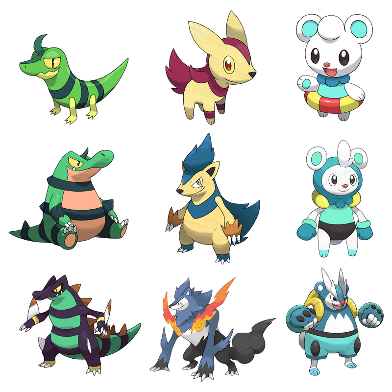 Starters: X And Y Shiny Starters