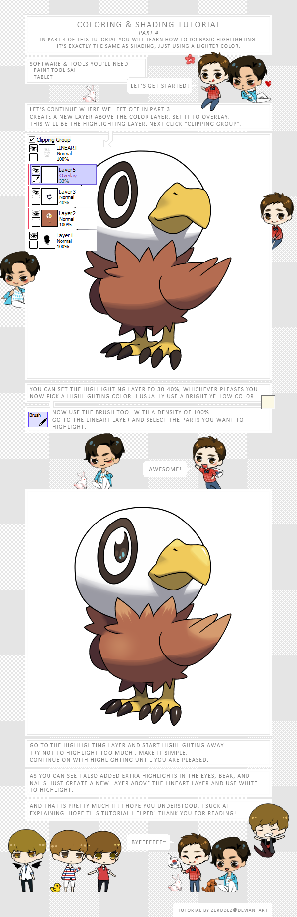 Fakemon Coloring and Shading Tutorial Part 4 by zerudez