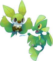 Flying Leafy Friends